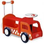 porteur enfant en camion de pompier